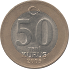 TURKEY - 2005 - 50 New Kuruş - Reverse