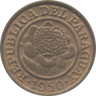 PARAGUAY - 1950 - 1 C�ntimo - Obverse