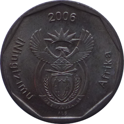 SOUTH AFRICA - 2006 - 50 Cents - Obverse