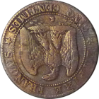 FRANCE - 1854 - 5 Centimes - Reverse