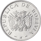 BOLIVIA, PLURINATIONAL STATE OF - 1997 - 50 Centavos - Obverse